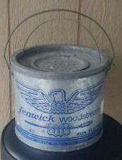 Vintage Fenwick Woodstream #88 Galvanized Non floating Fishing Bait Bucket