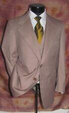 superb Vintage 3 piece Eli Thomas Brown Stripes men suit 42 R
