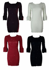 Unbranded Round Neck 3/4 Sleeve Casual Dresses for Women
