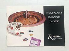 Vintage Riviera Hotel Las Vegas Souvenir Gaming Guide Booklet