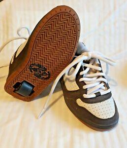 Unisex Kids  Size 2 HEELYS Style 7131 Brown & White