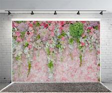 Pink Wedding Flowers Photography Photo Prop Studio Background Vinyl Backdrop 7x5