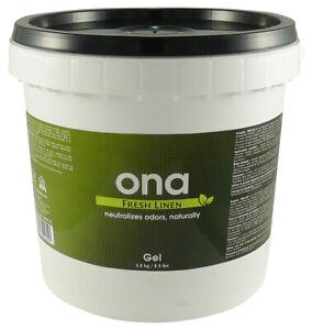 ONA Fresh Linen Gel 1 Gallon PAIL odor air neautralizer control crystal pro