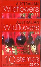 Australian Stamps: 2005 - Australian Wildflowers Booklet 10 x 50c Overprint