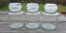 Un conjunto de tres frascos de vidrio Douwe Egbert 400ml-almacenamiento preservar