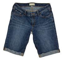 Banana Republic Women 28 / 6 Classic Shorts Denim Bermuda Stretch Pocket Blue