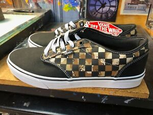 Vans Atwood Camo Check Black White Size US 12 Men's New Skateboard Sneakers