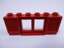 LEGO Red Old Classic Window with Shutters Réf 646 Set 011 355 914 349 350