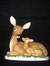 Vintage Homco Home Interiors Mom & Baby Deer Fawn Doe figurine So Cute ! look