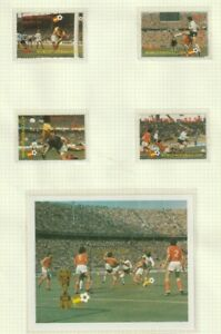 St LUCIA 1982 WORLD CUP SPAIN ALL 4 COMMEMORATIVE STAMPS & THE M/SHEET MNH