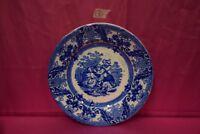 Piatto da parete bianco e blu scena orientale Giappone Muss. Ben. Mond. B SG ^