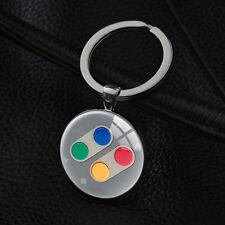 Cool Nintendo Controller Pad Keychains Silver Pendant Vintage Key Chain Keyring