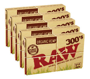 Raw Organic Rolling Papers 1 1/4 300´s - 5er Set (1500 Papers)
