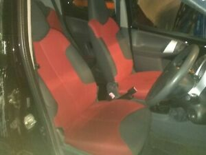 Peugeot 107 Interior Seats. With Airbags. Red & Grey. Fit C1 & Aygo