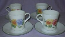 Corelle Summer Blush Cups & Saucers Cup & Saucer Set  8 Pieces