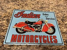 Vintage 1991 Indian Motorcycles Sales and Service Metal Tin Sign by Desperate Co