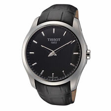 Tissot Men's T0354461605100 Couturier 39mm Black Dial Leather Watch
