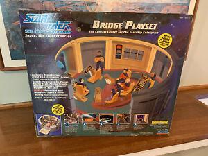 Vintage 1993 Playmates Star Trek TNG Enterprise Bridge Playset W/ Box 6103