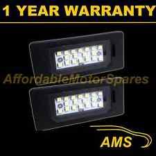 2x PER BMW SERIES 3 E46 E90 E91 E92 E93 M3 18 BIANCO LUCE TARGA A LED