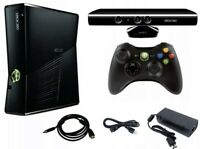 Microsoft Xbox 360 Slim 250 GB with Kinect 4GB Black Console with Games
