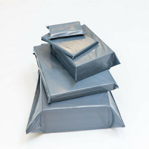9 SIZES Grey Mailing Bags Strong Parcel Postage Plastic Post Poly Self Seal