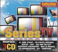 COFFRET DIGIPACK 3 CD 45T LES PLUS GRANDS TUBES SÉRIES TV DEXTER, LOST ... NEUF