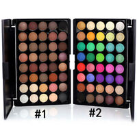 40-Colors Cosmetic Matte Eyeshadow Eye Shadow Makeup Palette Shimmer + Brush Set