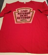Adult Unisex Heinz Ketchup Graphic T-Shirt Size M I PUT KETCHUP ON MY KETCHUP