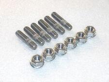 6x M8 Stainless Steel Exhaust Studs + Flange Nuts eg Suzuki GT550 GT750 Engine