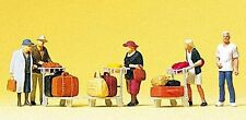 Figurines Preiser TT (75033): Passenger with Luggage Trolleys FIGURINES ORIG