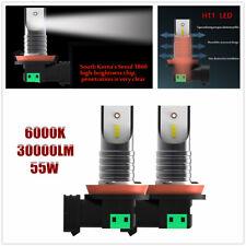 55W 30,000LM H11 LED Headlight Conversion Kit 6000K CSP LED Daytime Running Lamp