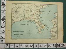 1901 JAPAN JAPANESE TOURIST MAP ~ NEIGHBOURHOOD OF YOKOHAMA ~ SAGAMI BAY URAGA