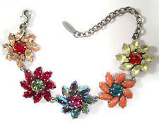 SoHo® Armband Flora Blüte Blumen geschliffene navette Kristalle bohemia bunt
