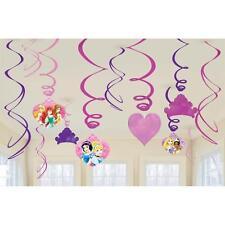 Disney Princess Sparkle Cartoon Kids Birthday Party Hanging Swirl Decorations