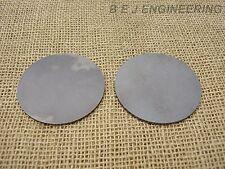 "Mild Steel Disc Circle 75mm(3"") dia x 3mm(1/8"") Pk of 2 - Laser Cut"
