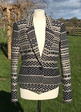 Reiss Navy Cream Jacket Size S Excellent Condition Worn Once