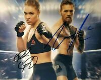 Conor McGregor / Ronda Rousey Autographed Signed UFC 8x10 Photo REPRINT
