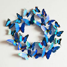 DIY 3D Butterfly Wall Sticker Decal Home Decor Art Room Pretty Decoration Blue