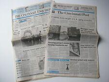 Vtg Old Cincinnati Enquirer & Cincinnati Post Ohio Newspaper Set April 4-23-1988