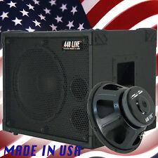 1X12 Bass Guitar Speaker Cabinet 350WRMS 8 Ohm 440LIVE BG1X12SH Bronco Black Tlx
