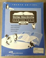 Gates-McGinitie Reading Tests Level BR Form S Fourth Edition NEW
