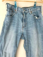 Vintage Distressed Acid Light Blue Levi Levi's Strauss Jeans Denim 27X30