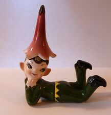 Vintage Norcrest 1960's Gnome Christmas Elf Pixie with Flower Hat F466