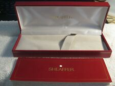 SHEAFFER EMPTY BOX FOR PENS + Instructions Manual - Red w/ Gold Trim White Dot !