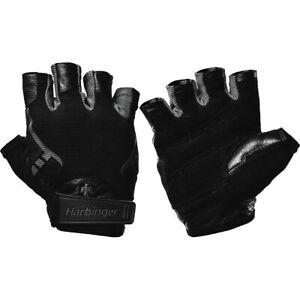 Harbinger 143 Ventilated Pro Weight Lifting Gloves - Black/Gray