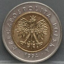 Polen - Poland 5 zlote zloty zlotych 1994 - Y# 284 - nice!
