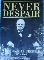 BOOK  MILITARY ARMY WAR  WINSTON S CHURCHILL NEVER DESPAIR 1438 PAGES ILLUSTRATE