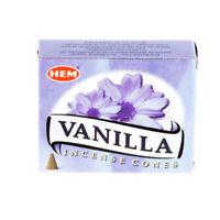 VANILLA - HEM INCENSE CONES PACK OF 3 (1 PACK=10 CONES)