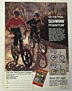 1980 SCHWINN BMX bicycle ad page ~ PHANTOM SCRAMBLER