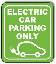 Electric Car Parking Only Metal Aluminum Composite Sign